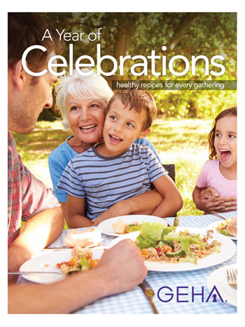 "This is a thumbnail image of the cover of GEHA's ""A Year of Celebrations"" e-book."