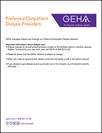 Cover image for GEHA's Preferred Outpatient Dialysis Network directory