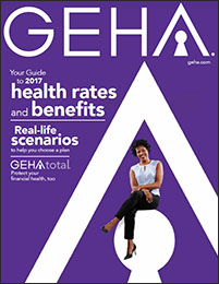 thumbnail cover image for geha's 2017 guide to health insurance rates and benefits for federal employees