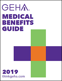 thumbnail cover image for the 2019 geha medical benefits guide