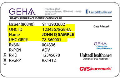 Geha Insurance Card Group Number